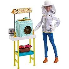 Barbie- Playset Apicoltrice Bambola Afroamericana con Casetta per Le Api e Accessori, Giocattolo per Bambini 3+ Anni, FRX32
