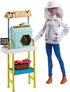 Barbie Quiero Ser Apicultora, Muñeca con Accesorio (Mattel FRX32)