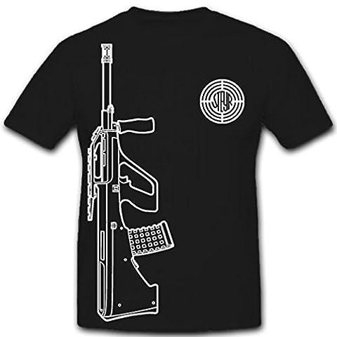 Steyr AUG Österreich Firma Hersteller Unternehmen Logo Abzeichen Waffe Gewehr österreichisches Sturmgewehr Militär- T Shirt Herren XXL #9975