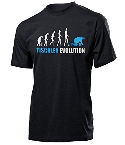 Tischler Evolution 4609 Herren T-Shirt (H-SW-Weiss-Blau) Gr. XL