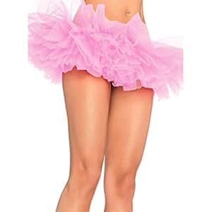 Femmes Filles Ballet Tutu Jupe bulle Scène Performance Robe Dancewear 5couches pour adulte (Rose)