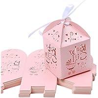 LEORX CANDY regalo scatole di favore matrimonio festa di nozze Decor, 50pezzi (Bridal Shower Regalo Regalo Di Nozze)