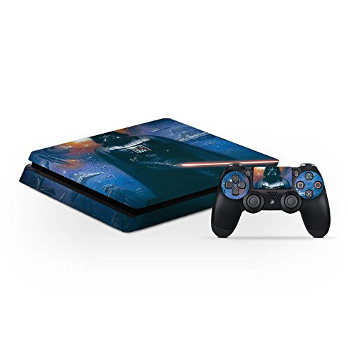 Sony Playstation 4 Slim PS4 Folie Skin Sticker aus Vinyl-Folie Aufkleber Star Wars Merchandise Fanartikel The Dark Side