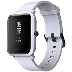 "Gshopper Reloj inteligente, amazfit bip juventud edición GLONASS GPS Heart Rate Sport Fitness Tracker reloj 1.28""Protector de 32G de peso IP68impermeable 45day espera, hombre, Amazfit Bip, gris"