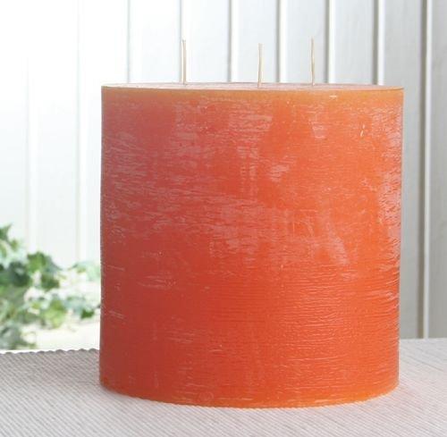Mandarin Kerze (Rustik-Dreidochtkerze, 15 x 15 cm Ø, mandarin-orange)