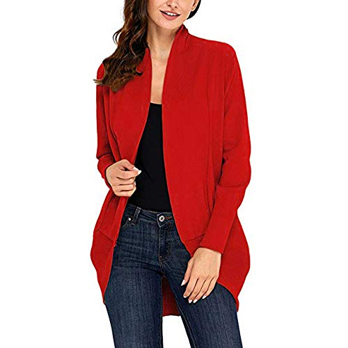 MOIKA Normal Size Outwear Womens Open Front Fly Away Cardigan Sweater Long Sleeve Plus Loose Drape
