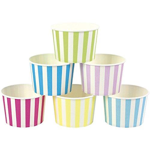 JaBaDaBaDo 12 Eisbecher Süßigkeitenbecher aus Pappe in Trendfarben