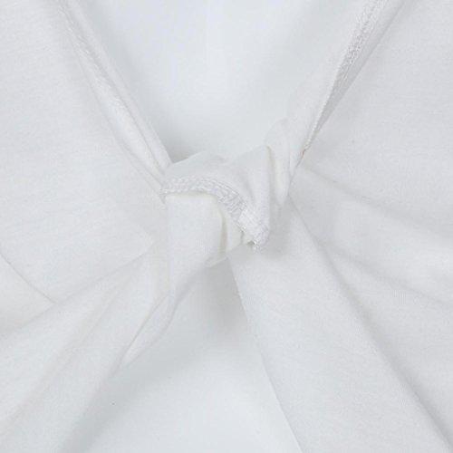 Manadlian T-Shirt Femmes, 2017 Femmes Chemisier Décontracté en Manche sans Manches Sexy sans Manches Solid Twist Backless Blanc