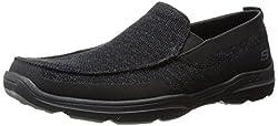 Skechers USA Mens Harper Moven Slip-on Loafer, Black, 12 M US