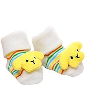 3 pares de calcetines para bebés recién nacidos antideslizantes calcetines cómodos calcetines de bebé para 6-12...