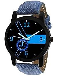 Matrix Analog Black Dial,Leather Strap Watch For Men/Boys - S Fashion