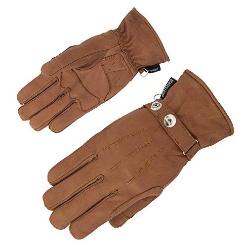 Motorradhandschuhe Echtleder exquisite Handschuhe extra weiches Leder - 4 Farben (10, Cognac) (Weiche Farben)