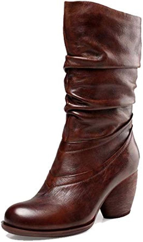 ZPEDY Chaussures Femme, Vintage, Talons Talons Talons Hauts, Bottes, Confortable, Portable, Fermeture éclairB07HM5C87SParent 8ae6de