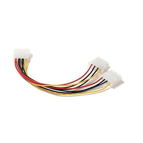 Ide Eide Kompatibel (SODIAL(WZ.) Computer Molex 4 Pin Stromversorgung Y-Kabel Strom Adapter Verteiler Y-Splitter-Kabel)