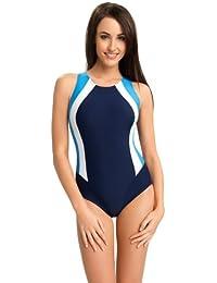 5779f50f915c8 Nexi Damen Badeanzug - Geeignet Für Freizeit Und Sport - Ideale Passform -  Beständig Gegen UV Und Chlor -Made…