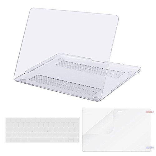 MOSISO MacBook Pro 13 Hülle 2018 & 2017 & 2016 Freisetzung A1989 / A1706 / A1708, Plastik Hartschale Schutzhülle Click Event mit Tastaturschutz Silikon Clear Tastaturfolie mit Screen Protector für Neueste MacBook Pro 13 Zoll mit/ohne Touch Bar und Be