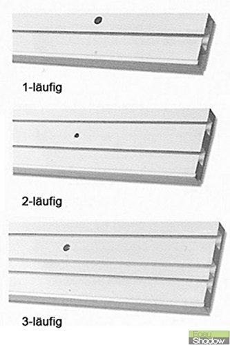 Easy-Shadow Vorhang Track vorgebohrt für Deckenmontage PVC Kunststoff weiß Länge 100cm–1–Track