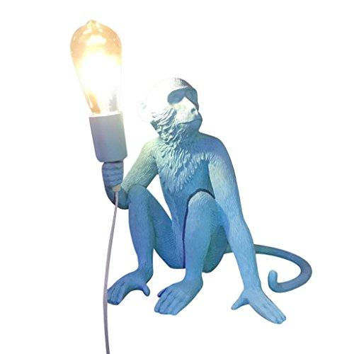 ZWD Animal Cartoon Lustre, Créatif Bleu Vêtements Magasin Résine Lustre Enfants Chambre Décoration Lustre Chanvre Corde Lustre Mur Lampe Lampe De Table Lampe de Plancher Luminaire (Couleur : C)