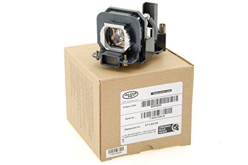Alda PQ® - Original Beamerlampe / Ersatzlampe ET-LAX100 für PANASONIC PT-AX100 PT-AX100E PT-AX100U PT-AX200 PT-AX200E PT-AX200U TH-AX100 Projektoren, Originallampe mit PRO-G6s Gehäuse / Halterung