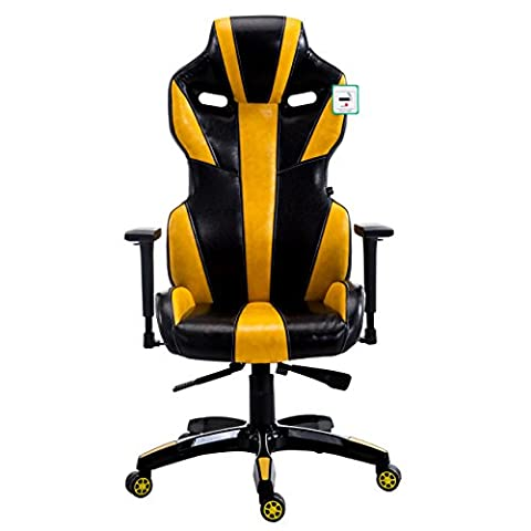 CTF PRO BUMBLE-BEE High Back Racing Gaming Computer Office Desk Chair with 3-D Adjustable Armrests (Yellow)