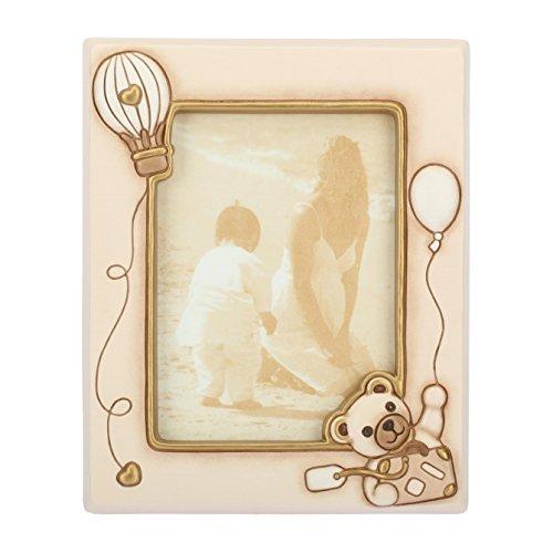 Thun portafoto grande teddy unisex per foto da 20x25 cm, cornice in ceramica