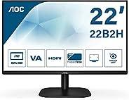 AOC 22B2H - Monitor de 22'' Full HD (1920x1080, 75 Hz, VA, Mega Infinity DCR, Flickerfree, LowBlue Lig