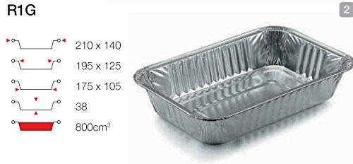 contital Barquette en aluminium 2 portions 100 PZ R1G