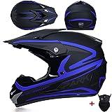 Off Road Motorradhelme Jugendliche Erwachsene Stoßfest Leichtes Vollgesichtsmotorrad Motocross Helm...