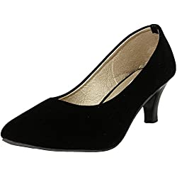 Do Bhai Women's Black Suede Belly- EU 41