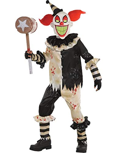 Fancy Me Jungen Teenager Gruselig Unheimlich Killer Karneval Zirkus Alptraum Clown Halloween Kostüm Kleid Outfit 6-16 Jahre - 10-12 - Jungen Killer Clown Kostüm