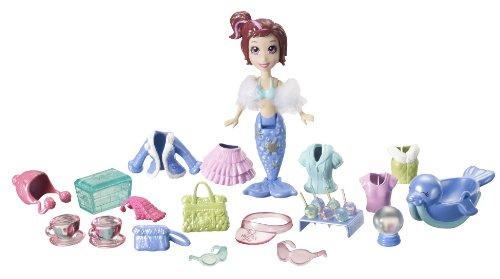 Mattel–t7090–Polly Pocket–Tasche Vinyl–Lila–Freunde des Meeres