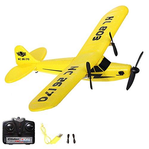 2.4GHz RC ferngesteuerter Trainerflugzeug Piper J3 CUB Flieger Flugzeug Trainer, Inkl. viel Zubehör - Ready-To-Fly - Top-Design