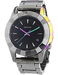 Nixon Monarch Gunmetal Multi - Reloj de cuarzo para hombre, correa de acero inoxidable color gris