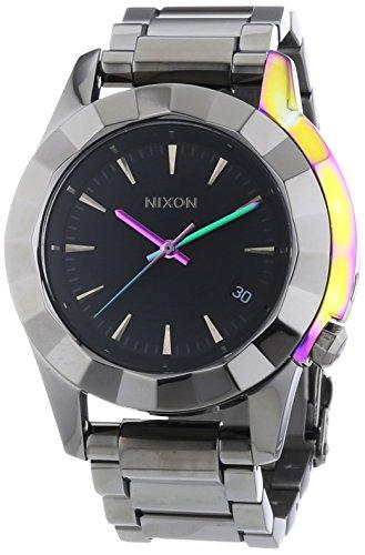 Nixon Herren-Armbanduhr XL Monarch Gunmetal Multi Analog Quarz Edelstahl A2881698-00