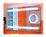 SBC Badspiegel mit LED Beleuchtung und integriertem 5X Kosmetikspiegel, Licht Spiegel 60x80 cm