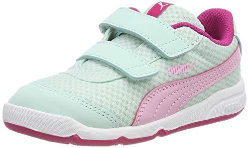 Puma Unisex-Kinder Stepfleex 2 Mesh V Inf Sneaker, Blau (Fair Aqua-Pale Pink-Fuchsia Purple), 20 EU