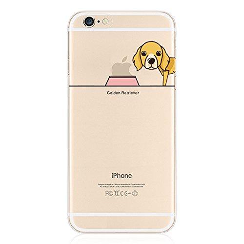 iPhone 8 Handyhülle Schutzhülle Hülle Silikon Cover Case Ultra Dünn Slim Backcover TPU transparent Golden Retriever