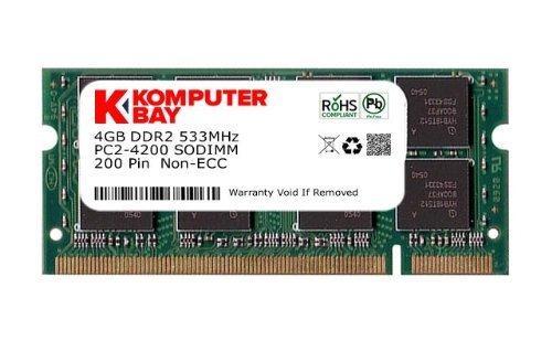Komputerbay Speicher-DDR2SODIMM PC2-4200/PC2-4300533MHz 200Pin für Laptop 1GB 4GB - 533 Mhz-pc2