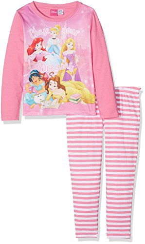 Disney Princess Girl's Ariel, Cinderella, Rapunzel, Belle and Jasmine Pyjama Set