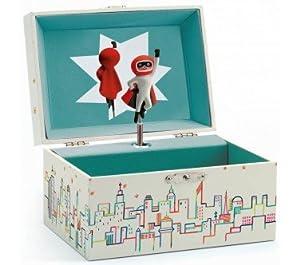 Djeco- Mr. Moon Caja de Música, Multicolor (DJE-6595)