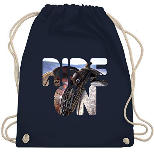 Reitsport - Ride on Pferd reiten - Unisize - Navy Blau - WM110 - Turnbeutel & Gym Bag