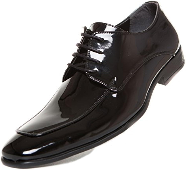 CAPRIUM Smoking Lackschuhe Schnürhalbschuhe Schuhe Schnürer Business Derby Hochzeitsschuhe 0000915R