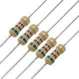 sourcingmap® 100 x Resistors 510 ohm 1/4W 250V 5% Carbon Film