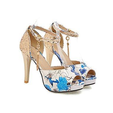 LvYuan Da donna-Sandali-Ufficio e lavoro Formale Serata e festa-Club Shoes-A stiletto-Lustrini Materiali personalizzati Finta pelle-Nero Blu Red