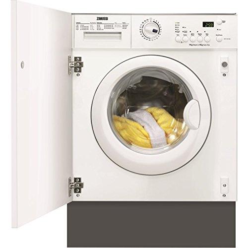 Zanussi ZWT7142WA 7kg Wash 4kg Dry 1400rpm Integrated Washer Dryer - White