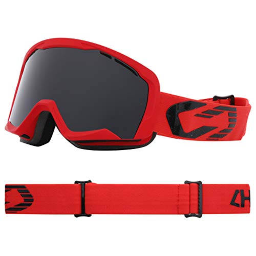 XY&CF-Ski glasses Doppelte Anti-Fog zylindrische Skibrille, Kurzsichtigkeit, Wind und Schnee (Farbe : B)