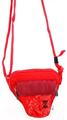 Galleria fotografica Borsa Donna Per Action Camera ELECAM Explorer S | Duomishu | CrazyFire | YDI | Maxesla - Con Maniglia / Tracolla - Colore Rosso - DURAGADGET