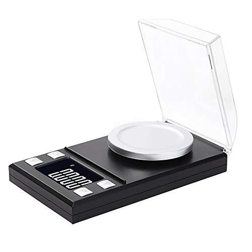 DuDuDu Balance de précision numérique pour Bijoux Or Herbe Lab Milligramme pèse-Personne électronique Balance exacte échelle - 100g / 50g 0,001 g