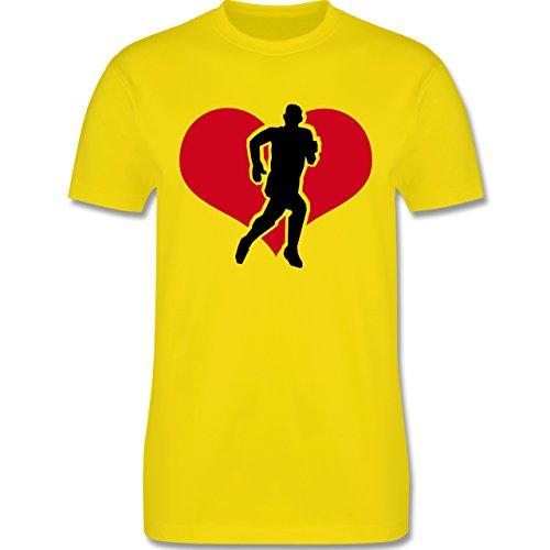 Laufsport - Running - Herren Premium T-Shirt Lemon Gelb