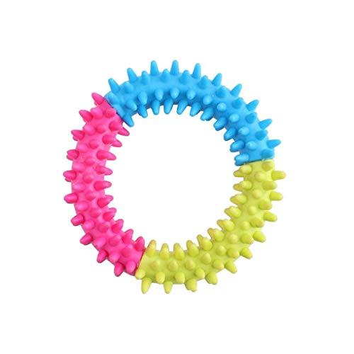 Flushzing Buntes weicher Durable TPR-Gummiring Dental Kauen Beißen Verfolgen Ausbildung Spielzeug für Welpen -